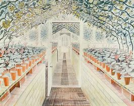 Ravilious: The Greenhouse: Cyclamen and Tomatoes