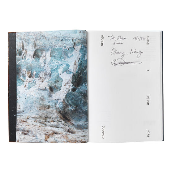 Signed copy of Otobong Nkanga: From Where I Stand exhibition book