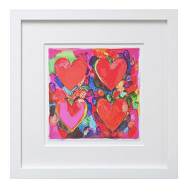 Jim Dine Four Hearts (framed print)