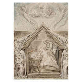William Blake:The Descent of Peace Christmas card (pack of 10)