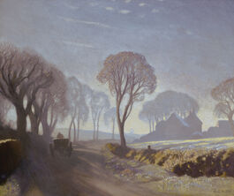 George Clausen: The Road, Winter Morning