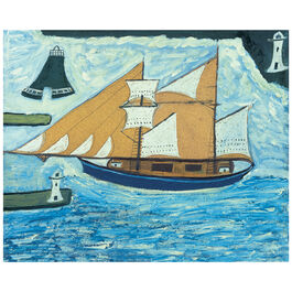 Wallis The Blue Ship (unframed print)