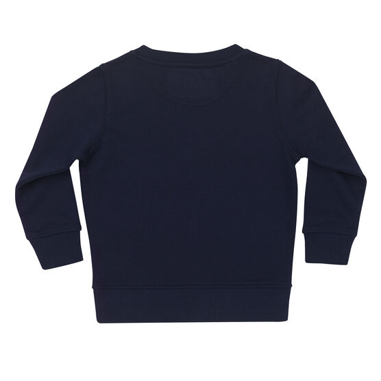 Navy kids' sweatshirt - back