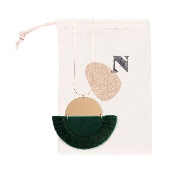 Luna forest green necklace