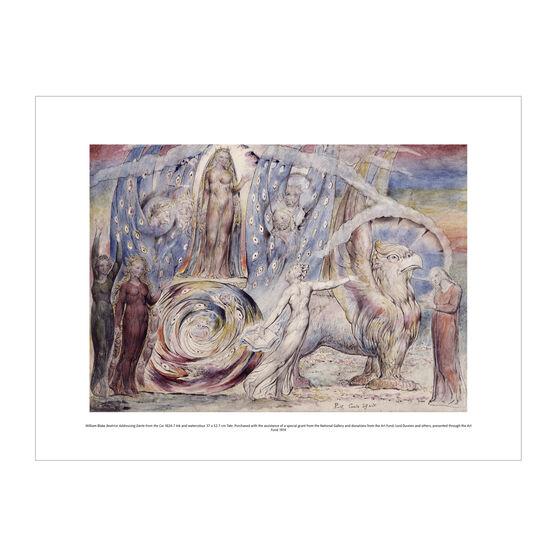 William Blake Beatrice Addressing Dante exhibition print