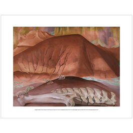 Georgia O'Keeffe: Red Hills and Bones mini print