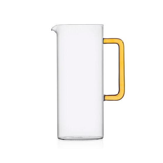 Tube jug with yellow handle