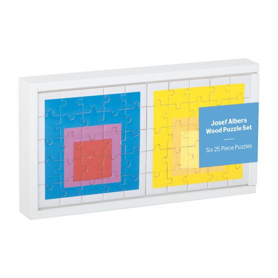 Josef Albers wooden puzzle set