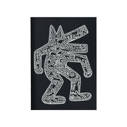 Keith Haring Dog on Black notebook