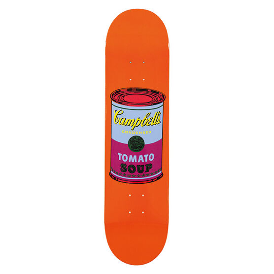 Warhol: Coloured Campbell`s Soup skateboard - purple
