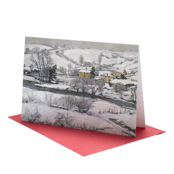 John. A. Park: Snow Falls on Exmoor Christmas card (pack of 10