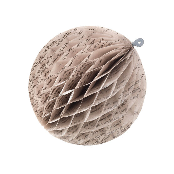 William Blake paper ball ornaments