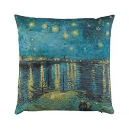 Van Gogh Starry Night over the Rhône cushion cover