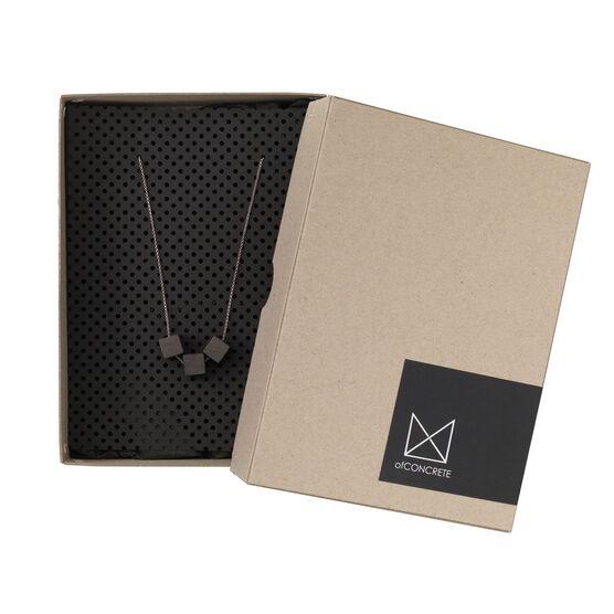 Silver and concrete pendant necklace