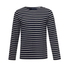 Breton stripe long-sleeved t-shirt