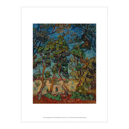 Vincent van Gogh: Hospital at Saint-Rémy exhibition print