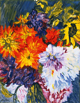 Jacob Epstein: Dahlias and Sunflower