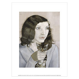 Lucian Freud Girl with a Kitten exhibition art print