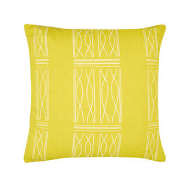 Paule Vézelay yellow linen blend cushion