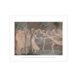 William Blake Oberon, Titania and Puck with Fairies Dancing mini print