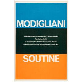 Modigliani / Soutine 1963 vintage poster