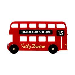Tatty Devine London bus brooch