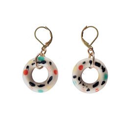 Ceramic Gelateria doughnut hoop earrings