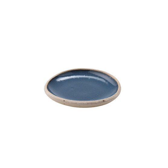 Blue ceramic salt bowl