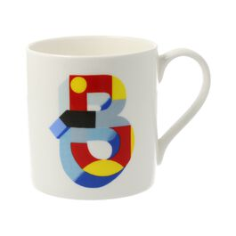 Alphabet of art mug - B