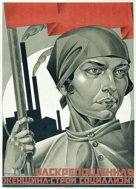 Strakhov: Emancipated Woman: Build Socialism!