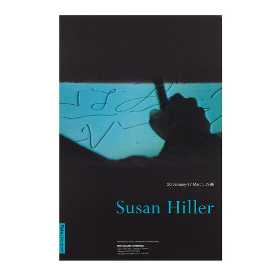 Susan Hiller, 1996 original exhibition poster