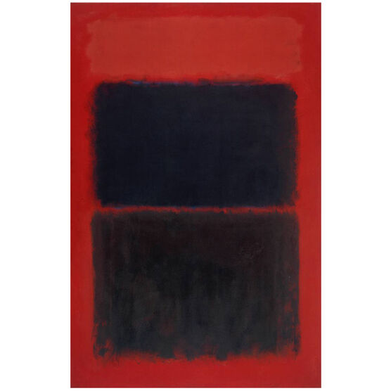 Rothko Light red over black (screen print)