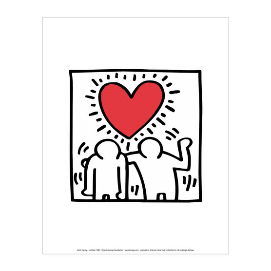 Keith Haring: Be Mine mini print
