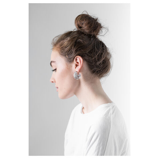 Earth eco-resin segment earrings