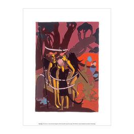 Paula Rego The Devil Cat  exhibition art print