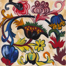 Goncharova: The Ornament. Flowers (Mother of God triptych)