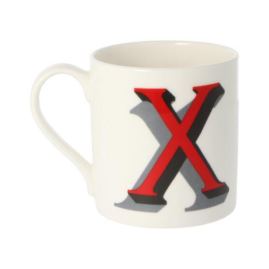 Alphabet of art mug - X