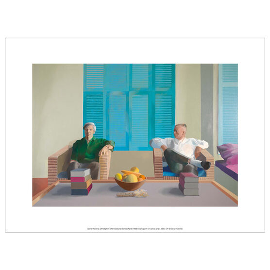 David Hockney Christopher Isherwood and Don Bachardy (exhibition print)