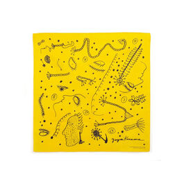 Yayoi Kusama yellow and black scarf
