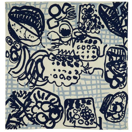 Patrick Heron silk scarf - blue