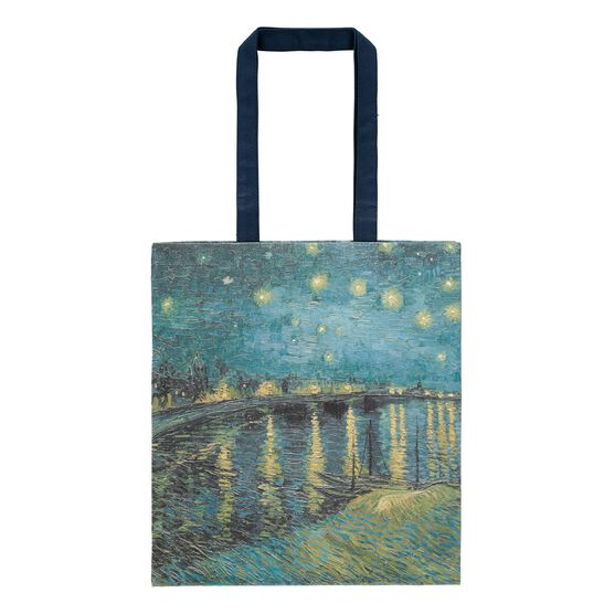 Van Gogh Starry Night over the Rhône tote bag