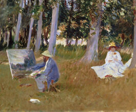 John Singer Sargent: Monet Painting by the Edge of a Wood