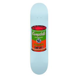 Warhol: Campbell's Soup Can skateboard - pale blue