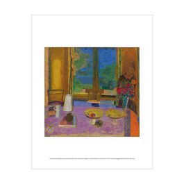 Pierre Bonnard: Large Dining Room Overlooking the Garden mini print