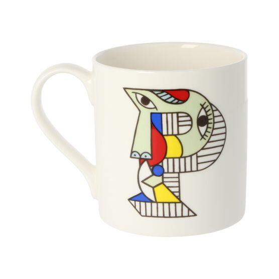 Alphabet of art mug - P