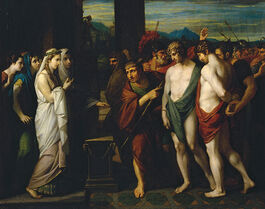 West: Pylades and Orestes Brought as Victims before Iphigenia