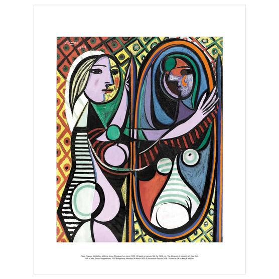 Pablo Picasso: Girl Before a Mirror mini print