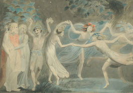 William Blake: Oberon, Titania & Puck with Fairies Dancing