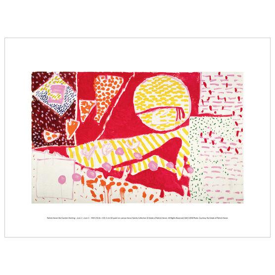 Patrick Heron: Red Garden Painting : June 3-June 5 1985 exhibition print