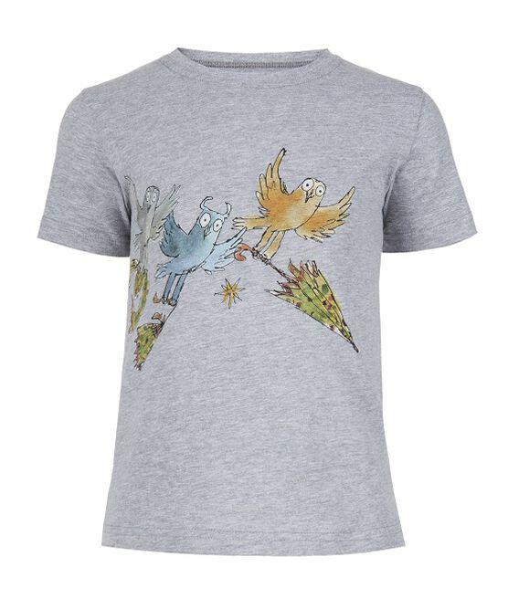 Three Little Owls grey t-shirt